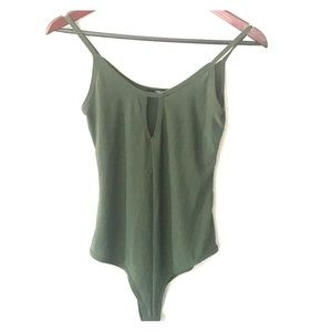 Forever 21 olive green body suit